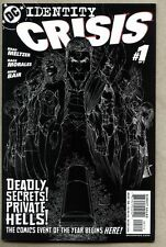 Identity Crisis #1-2004 nm- Inverted Black and White Sketch Variant Cover