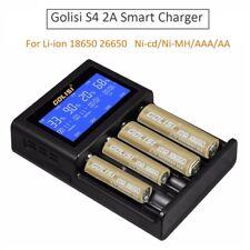 Golisi S4 2A LCD Smart Charger For Li-ion 18650 26650 Ni-cd/Ni-MH/AAA/AA Battery