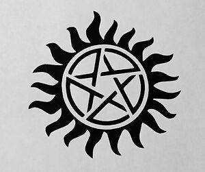 Supernatural Anti Possession Sigil Symbol Sam Dean Vinyl Decal Laptop Car Window