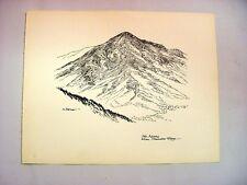 1930-40's C.Palmer Ink Drawing of Mount Adams, Chandler Ridge, New Hampshire