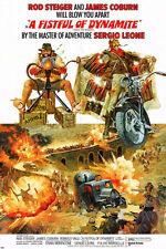 A Fistful of Dynamite MOVIE POSTER james COBURN rod STEIGER action 24X36