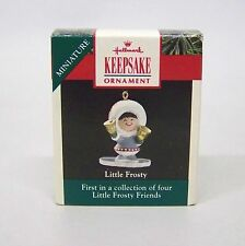 "1990 Hallmark Miniatures Ornament "" Little Frosty "" 1st in Collector Series"