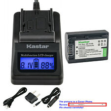 Kastar Battery LCD Fast Charger for Sony NP-FV50 DCR-SX15 DCR-SX20 DCR-SX21
