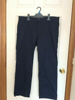 Men's CLASSIC GAP KHAKIS Navy Blue STRAIGHT FIT Chinos Size 38 X 32