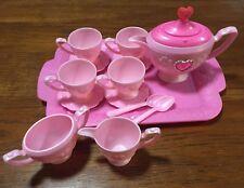 15 Fifteen Piece Pink Plastic Barbie Tea Set Mattel Inc, 1996 ~FAST FREE SHIP!~