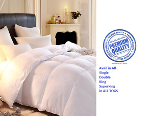 Hotel Quality Microfibre 100% Luxury Feels Like Down Duvet In ALL TOGS & SIZE