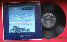 "THE THREE SUNS W/ MARGA HANSON, HARPIST ""TWILIGHT MOODS"" 1950 RCA LPM-3102 LQQK!"