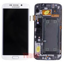 SBI White Samsung Galaxy S6 Edge LCD Touch Digitizer Full Screen Frame Assembly