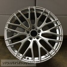 "19"" HYPER SILVER MESH STYLE STAGGER WHEELS RIMS FITS LEXUS IS IS300 IS250 IS350"