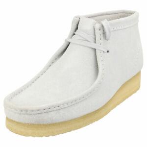 Clarks Originals Wallabee Boot Womens Blue Grey Wallabee Boots - 7.5 UK