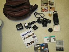 Konica FS-1 camera bundle with Konica Xenanon AR 40mm F1.8 lens