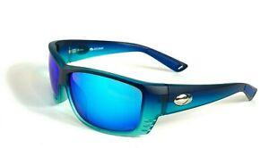 Unisex Blue Mirror Lens Plastic Frame Sunglasses Sport Outdoor Fishing Eyewear