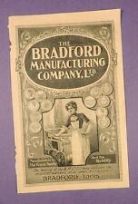 The Bradford Manufacturing Company - Early Advertising Insert - Ladies Costume