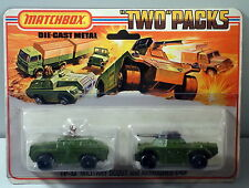DTE 1975 LESNEY MATCHBOX TWIN PACKS TP-13 MILITARY ARMY SCOUT & ARMOURED CAR NIP