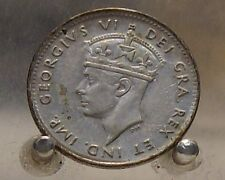 1947 C Canada, Newfoundland Silver 5 Cents, Old Silver World Coin