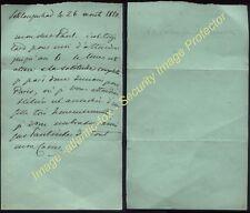1850 Russian HSH Princess Dorothea Von Lieven, Autograph letter