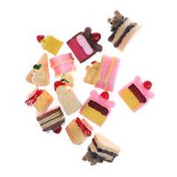 5pcs Dessert 3D Resin Cartoon Bear Cream Cakes Miniature food Dollhouse Decor cv