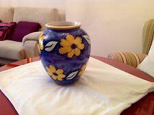 Jarrón de cerámica artesana para decoración, pintado a mano