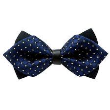 Wedding Party Moda Festa Fancy regolabile fiocco Cravatta Papillon (blu mar L0B2