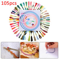 105 Cross Stitch Embroidery Starter Kit Craft DIY Tools Colorful Fabric-Set DIY