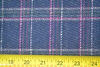 "By 1/2 Yd, 60"" Wide, Navy Pink White & Green Plaid Mid-Weight Wool, M7947"