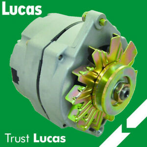 LUCAS ALTERNATOR REPLACES DELCO 10SI 1 WIRE INSTALL 65 AMP V BELT PULLEY