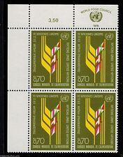 United Nations 1976 Inscription UN Block Stamp SC G-63 GENEVA World Food Council