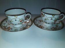 WEDGWOOD OBERON 2 TEA CUPS & 2 SAUCERS NEW