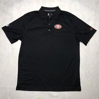 Nike Dri-Fit San Francisco 49ers NFL On Field Golf Polo Shirt Black Men's Large