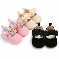 Kid Newborn Toddler Girl Crib Shoes Pram Soft Sole Prewalker Anti-slip Sneakers
