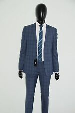 HUGO BOSS ANZUG, Ryan4/Win2, Gr. 94, UVP: 529,00 €, Extra Slim Fit, Open Blue