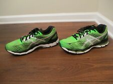 Used Worn Size 11 Asics Gel Nimbus 17 Shoes Lime Black White Silver