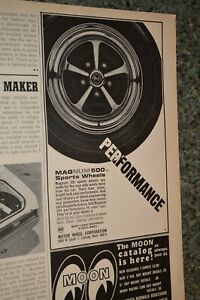 ★1968 MAGNUM 500 SPORT WHEELS ORIGINAL ADVERTISEMENT AD 68 MAGS RIMS