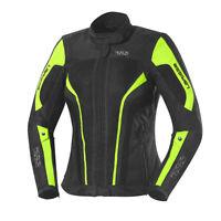 IXS Damen Textiljacke // Larissa (Schwarz/Neongelb) // Motorradjacke