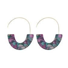 Acetate Acrylic Resin Hoop Earrings Christmas Gifts for Girls Boutique Jewelry