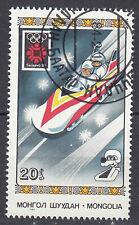 Mongolei Briefmarke gestempelt Olympia Seoul 1984 Sport Bob Bobsport / 40