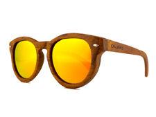 OKULARS® Occhiali da Sole Vintage in Legno Rotondi - Uomo e Donna - Polarizzati