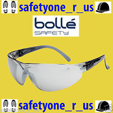 2x pairs Bolle Safety Glasses - Blade - Light Smoke Silver Flash Lens