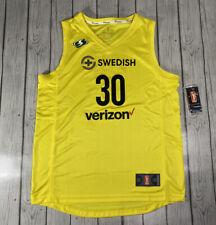 Seattle Storm Swedish Breanna Stewart Yellow Verizon WNBA Basketball Jersey M