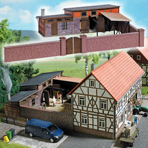 1531 Busch HO Kit of a Annex Building (Slaughterhouse) - NEW