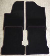 Fußmatten Autoteppiche für Fiat Seicento 1998-2009 schwarz 4 teilig Neuware