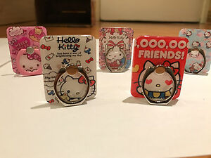 Hello Kitty Universal 360 Rotating Finger Grip Ring Stand/Holder/Car mount