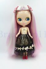"New 12"" Neo Blythe Doll from factory Long Mixed Colorful Straight hair"