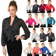 Hip Length Polyester Business Blouses for Women
