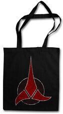 L' Impero Klingon LOGO Hipster BAG-BORSA TESSUTO STOFFA sacchetto BUSTINA-STAR TREK Klingon