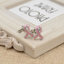 Novelty Men Cufflinks Enamel Ribbon Shape Cancer Care Cuff Links Jewelry 1 Pair