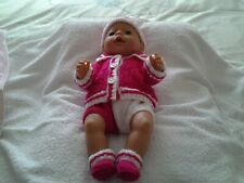 "HAND KNITTED DOLLS CLOTHES FOR A 17 "" BABY BORN DOLL OR SIMILAR SIZE"