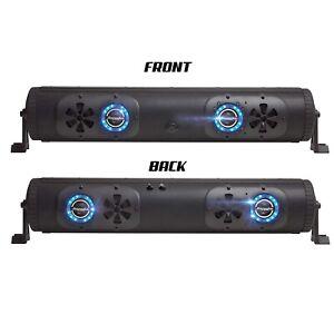 Bazooka BPB24-DS-G2 2-Sided Bluetooth Party Bar Soundbar 450w RGB LED UTV Boat