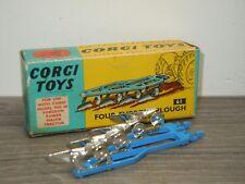 Four Furrow Plough - Corgi Toys 61 England in Box *34160