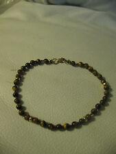 "Tiger's Eye & 14K 8 1/2"" bracelet"